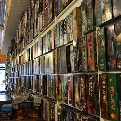 Game library in the gaming room