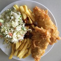 Delicious Fish And Chips with Coleslaw