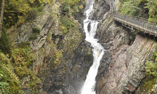 Falls through the gorge