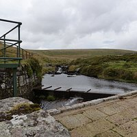 The weir, diverting part of the West Dart river to the Leat