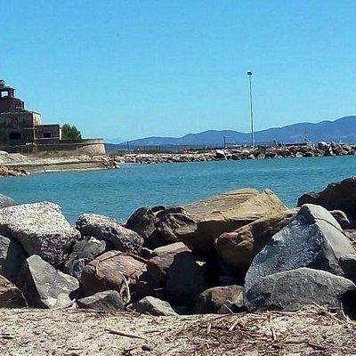 Panorama dalla spiaggia di Quagliodromo