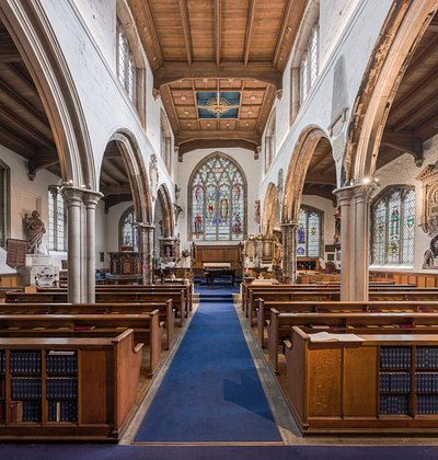 Interior of St Olave's Church, Hart Street