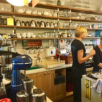 Behind the counter of Cafe 46 - where the magic happens!