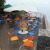 Die Terrasse der Gelateria & Cafe.