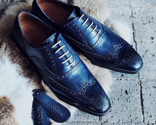 Made to order shoes - midnight blue