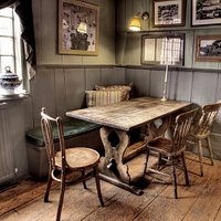 customer's favourite table in the bar area, where you can also eat