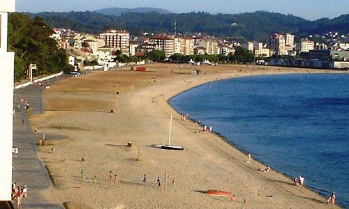 Playa en Villagarcía de Arosa o Arousa