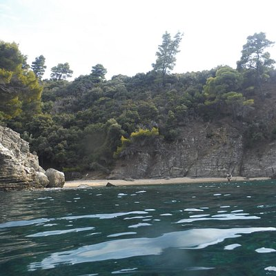 Snorkeling on the left side of Bahia beach. A second remote small beach