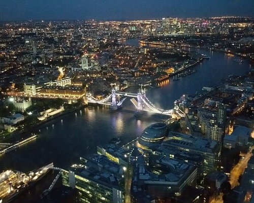 Tower Bridge notturno vista dallo Shard