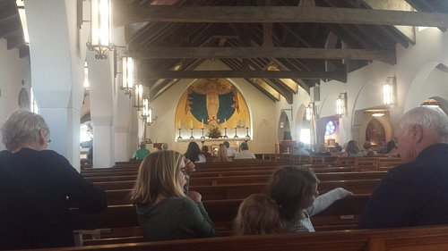 The inside of the church!