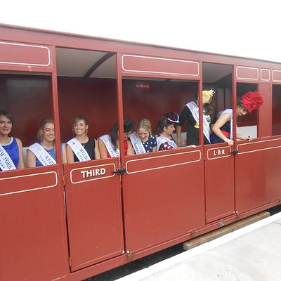 The Roses visited us here at the Lartigue Monorail and Museum During the Rose of Tralee festival