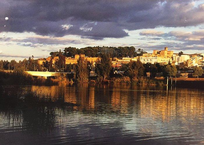 Vista de la Alcazaba desde la margen derecha del Guadiana