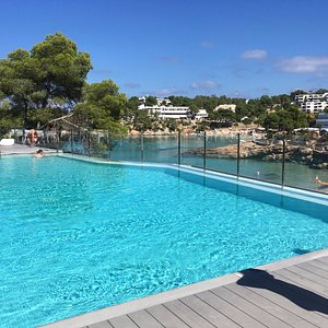 outdoor pool overlooking the beach