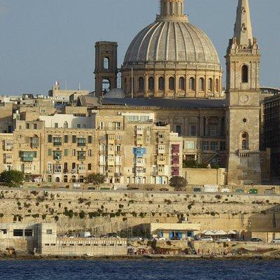 Classic view on Valletta