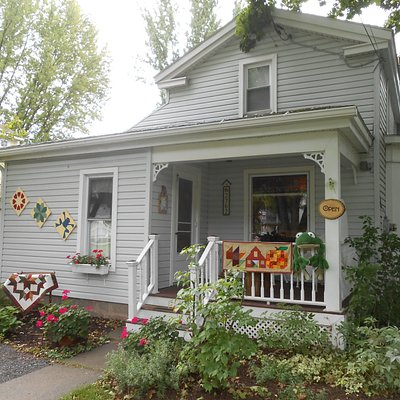 cute little 1840's home of Lucky Frog Fabrics in the heart of Weedsport, NY
