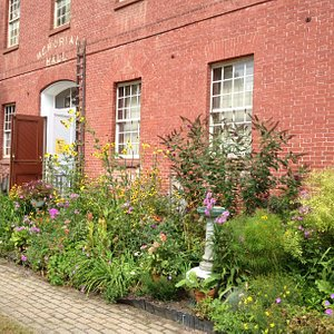 Taken in late summer, this is a view of the entrance to The Museum