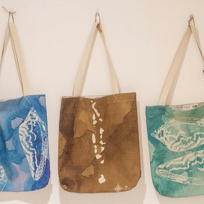 Few of our tote bags, you can select from over 15 bespoke designs. photo credits to Raani