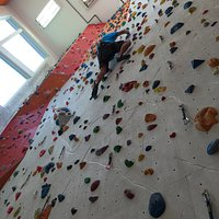 Climbing wall with routs for all levels