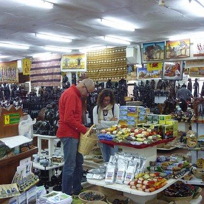 Tourist selecting their souvenirs