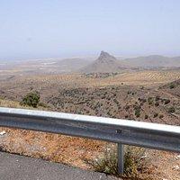 Roque Aguayro widziana z okolic wioski Temisas