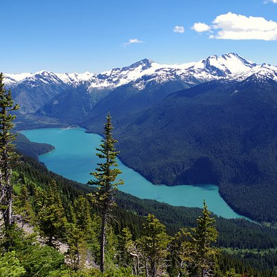 Cheakamus Lake as seen from the High Note Trail