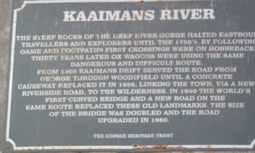 Sign at the river