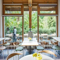 Trebah Kitchen's contemporary dinning  space