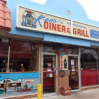 Front of & entrance to Ken's Diner & Grill