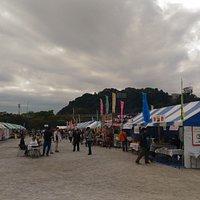 八千代総合運動公園の八千代の祭、二日目、プロレスのデモンストレーションもやっている。