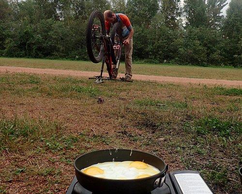 Breakfast at Nine Mile Forest