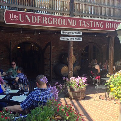 As the owner of the business I wanted to show you our brick courtyard for wine tasting.