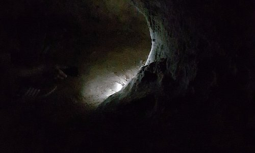 Narrow passage in the cave