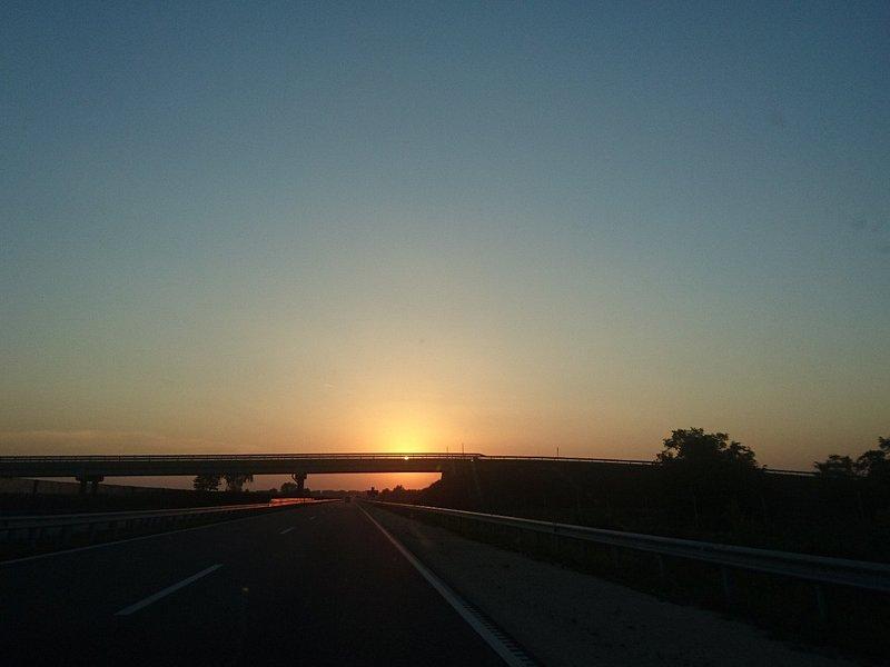 Csorna - sunset on M85
