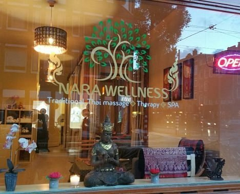 Front window of our spa
