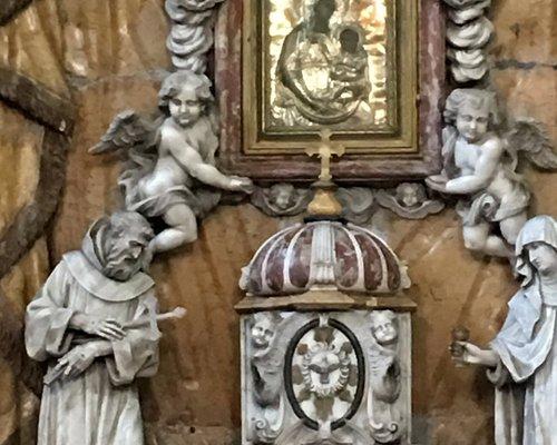 Closeup of main altar Church of St Clare