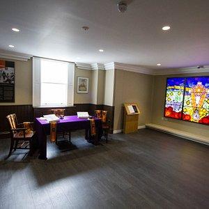 Replica Lodge room & Memorial Window
