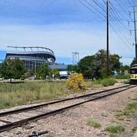 Trail past Mile High Stadium