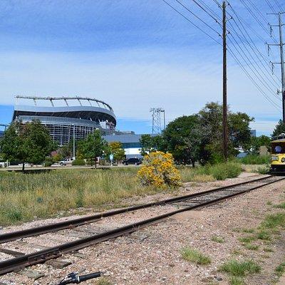 Trail past Mile High Stadium