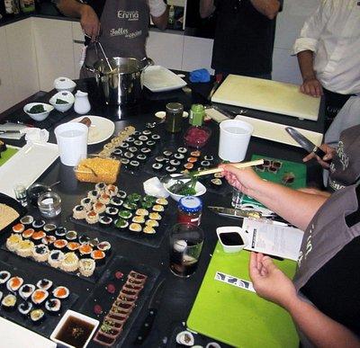 Taller de Cocina Japonesa. Aquí nuestros alumnos aprenden a hacer maki sushi.