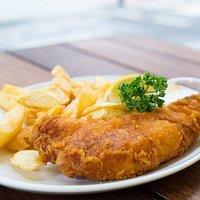 Fresh homemade Fish N Chips