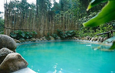 our VIP pool with natural hotspring