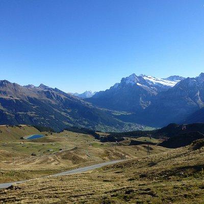 Aussicht vom Weg in Richtung Grindelwald