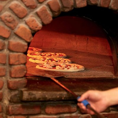 Wood fired, brick oven PIZZA!