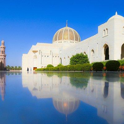 Außenansicht des großen Gebetssaales für Männer.