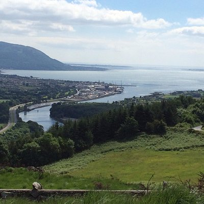 View of Carlingford Lough and Mourne Mountains from Flagstaff Viewpoint