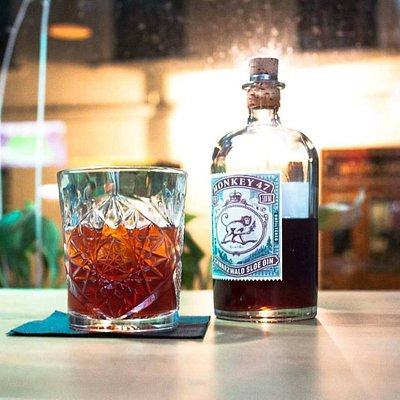 Sloe gin Old-fashioned cocktail