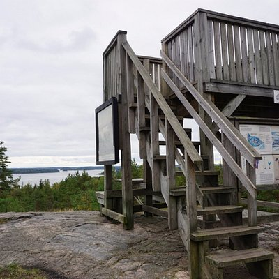 The small observation tower on the rock