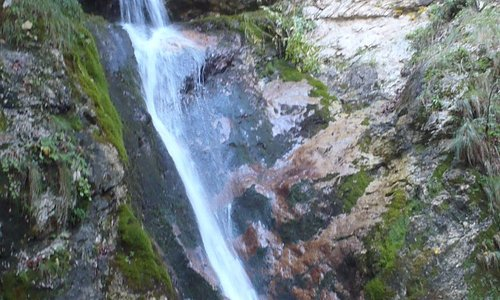 this waterfall was our target attraction