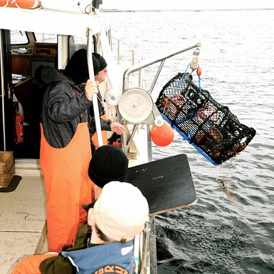 Lobster fishing in autumn