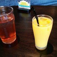 Lemon, lime & bitters and orange juice.